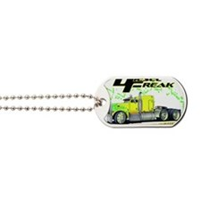 Green Yellow Diesel Freak - no background Dog Tags