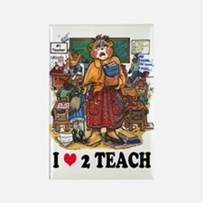 Stressed Teacher - Female Rectangle Magnet