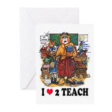 Stressed Teacher - Female Greeting Cards (Package