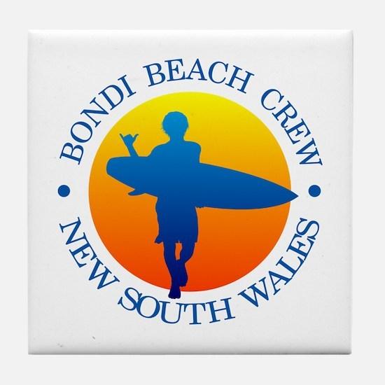 Surf Bondi Beach Tile Coaster