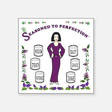 "Edited-Seasoned to Perfecti Square Sticker 3"" x 3"""