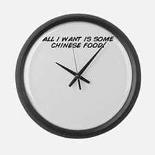 Cute Chinese food Large Wall Clock
