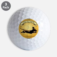 8x9_trvlbnd_flying_dog Golf Ball