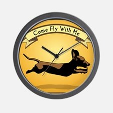 8x9_trvlbnd_flying_dog Wall Clock