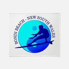 Zen Surfer (Bondi) Throw Blanket
