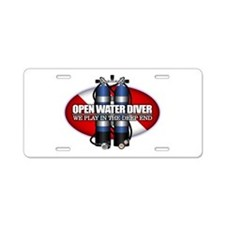 Open Water Diver (Scuba Tanks) Aluminum License Pl