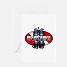 Open Water Diver (Scuba Tanks) Greeting Cards