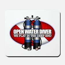 Open Water Diver (Scuba Tanks) Mousepad