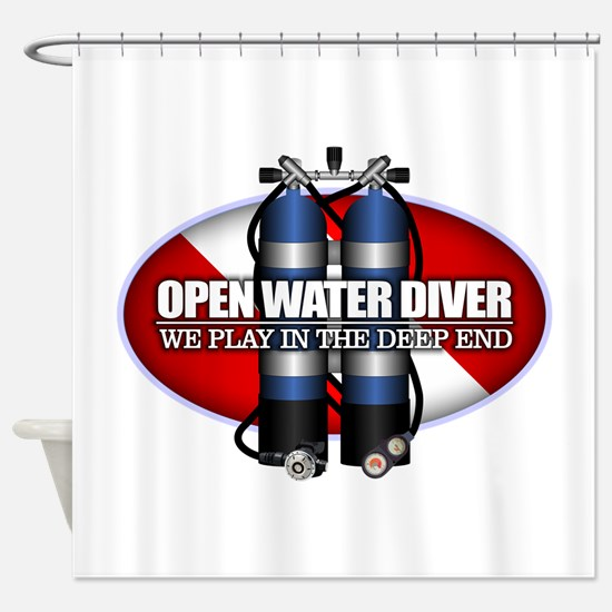 Open Water Diver (Scuba Tanks) Shower Curtain