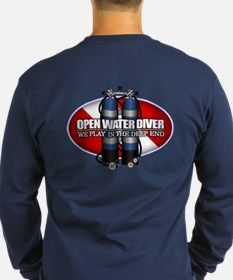 Open Water Diver (Scuba Tanks) Long Sleeve T-Shirt