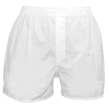 Corkscrew White Boxer Shorts