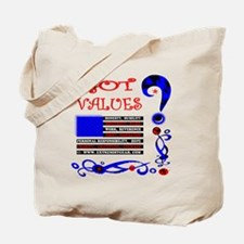 GOT VALUES on black Tote Bag