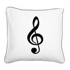 Born To Sing Square Canvas Pillow