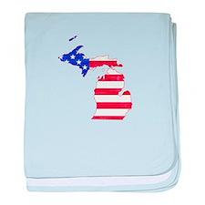 Michigan Flag baby blanket
