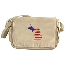 Michigan Flag Messenger Bag