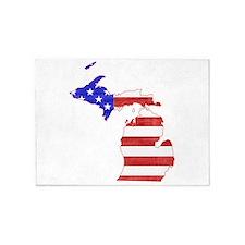 Michigan Flag 5'x7'Area Rug