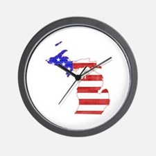 Michigan Flag Wall Clock