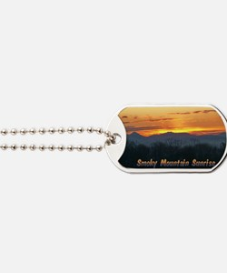 Smoky Mountain Post Card Front Dog Tags