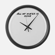 Funny All gone Large Wall Clock