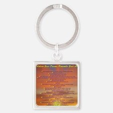 ABCs Hawaiin sunset (2)600 res (2) Square Keychain