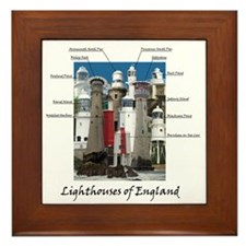 Lighthouses Of England Framed Tile