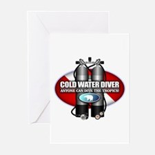 Cold Water Diver (ST) Greeting Cards