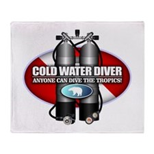 Cold Water Diver (ST) Throw Blanket