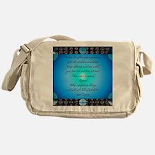 02-poem-live-love-learn-12x9 Messenger Bag