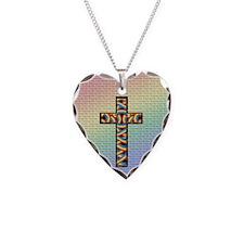 Woven Cross Circle Necklace