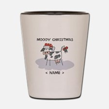 Customize Merry Christmas Cow Shot Glass