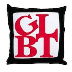 GLBT Red Pop Throw Pillow