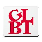 GLBT Red Pop Mousepad