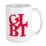 GLBT Red Pop Large Mug