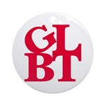 GLBT Red Pop Ornament (Round)