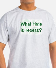 What Time Is Recess? Ash Grey T-Shirt