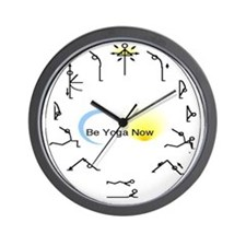 Sun Salutation Wall Clock