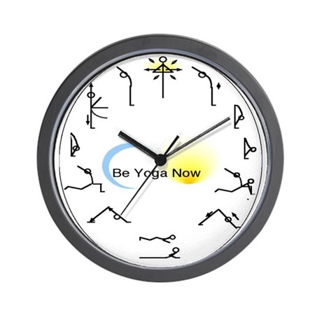 Sun Salutation Wall Clock