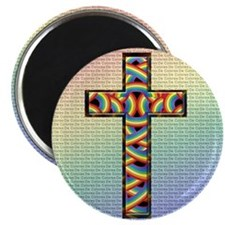 Woven Cross 2.25&Quot; Magnet (10 Pack)