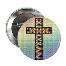 Woven Cross 2.25&Quot; Button