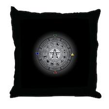 Wheel of the Year Zodiac Sabbats Throw Pillow
