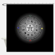 Wheel of the Year Zodiac Sabbats Shower Curtain
