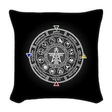 Wheel of the Year Zodiac Sabbats Woven Throw Pillo