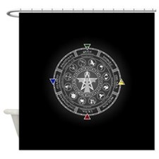 Wheel of the Year Zodiac Sabbats Shower Curtain