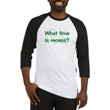 What Time Is Recess? Baseball Jersey