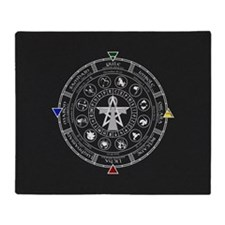 Wheel of the Year Zodiac Sabbats Throw Blanket