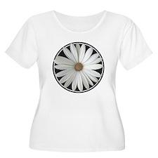 White Daisy 4 Plus Size T-Shirt