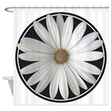 White Daisy 4 Shower Curtain