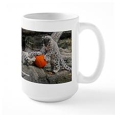 Snow Leopard Cubs And Pumpkin Mug