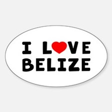 I Love Belize Decal