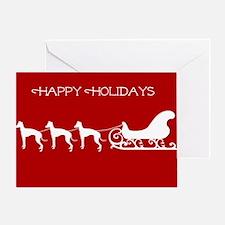 Italian Greyhound And Sleigh Greeting Cards